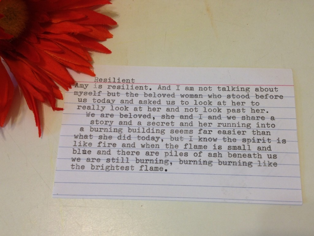 resilient poem - Amy