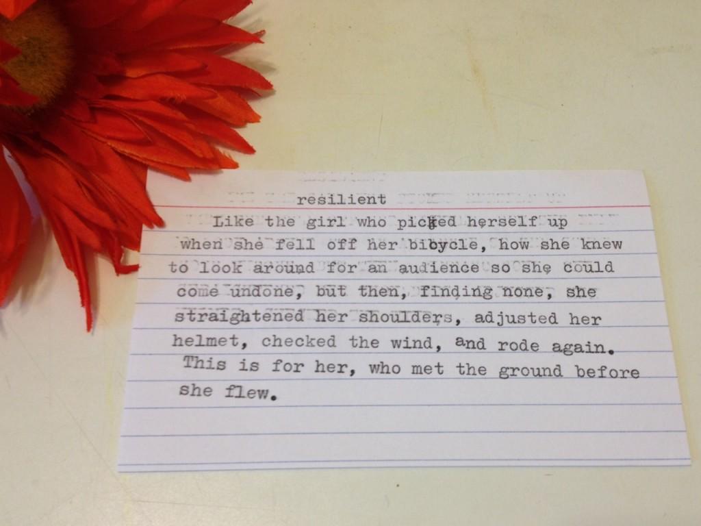 resilient poem - Maya