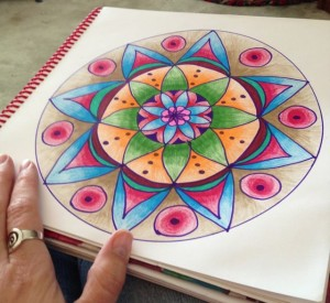 mandala making - heather plett