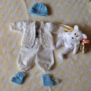 Matthew's tiny clothes