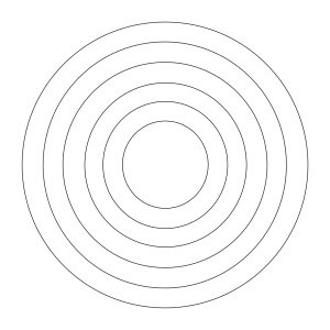 concentric circles for labyrinth