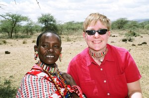 Heather with Maasai woman