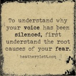 What silences our voices?