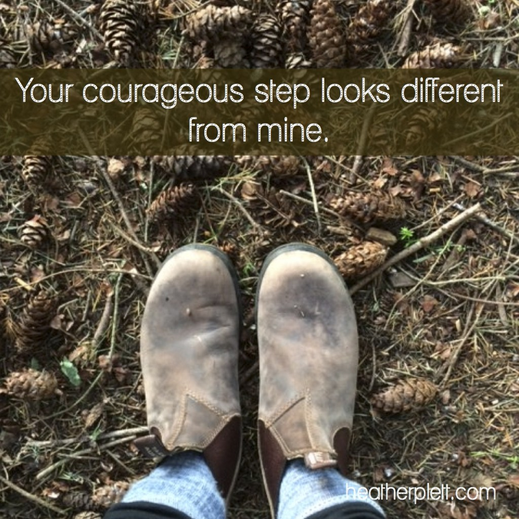 courageous step