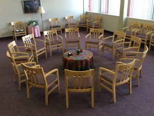 circle of chairs - st. ben's
